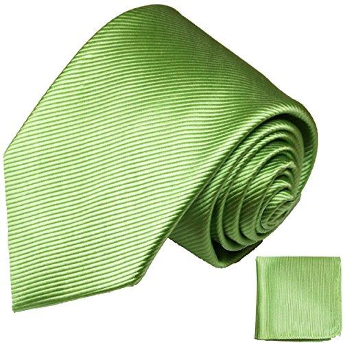 Cravate homme vert uni ensemble de cravate 2 Pièces ( longueur 165cm )