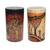 Kaffee- oder Teedosen 2er Set mit Afrikamotiv