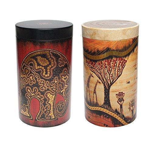 Kaffee- oder Teedosen 2er Set mit Afrikamotiv, je 500 gr.