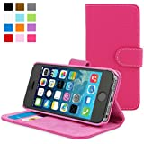 Snugg® iPhone 5 / 5s Case - Leather Flip Case with Lifetime Guarantee (Hot Pink) for Apple iPhone 5 / 5s