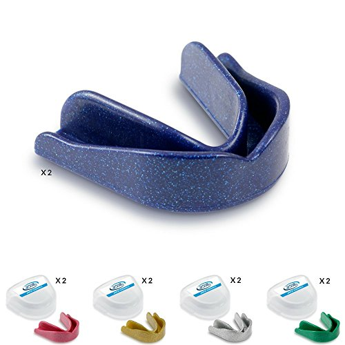 10x Game Guard Mundschutz/Zähne Guard/,-gemischt Sparkles, Gold, Silber, Blau, Grün und Pink, Mundschutz, ideal für Schule Sport -