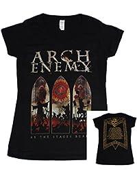 Arch Enemy, Girlie V-Neck T-Shirt, Tour 2017