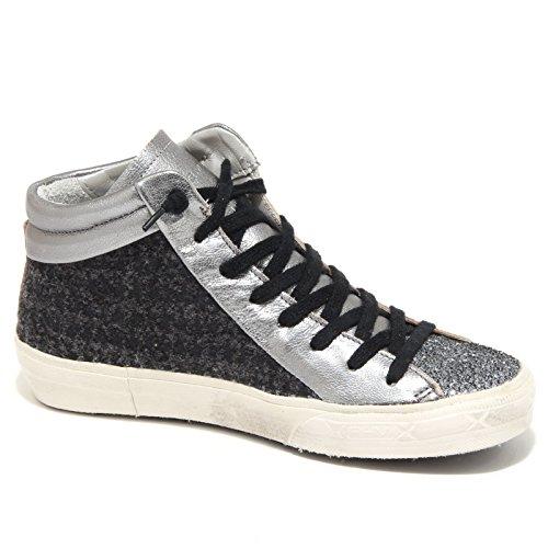 3868N sneaker PHILIPPE MODEL scarpe donna shoes woman Grigio/Nero