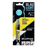 BLUFIXX Nachfüllkartusche MGS Metall Glas Stein Farbe weiß