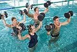 Happy fitness clase doing Aqua aeróbicos con espuma de mancuernas (68425969), lona, 60 x 40 cm