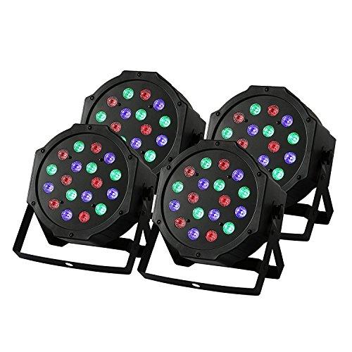 BuoQua 4 Stück 18X3W Lichteffekte DMX Bühnenbeleuchtung LED Bühnenlicht Controller für DJ Disco Party KTV (4 Stück)