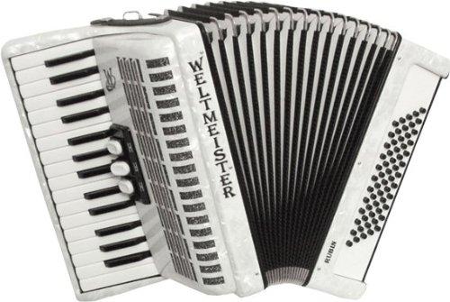 Weltmeister Piano Akkordeon Rubin weissperloid