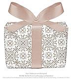 Set di 3 fogli di carta da regalo universale, colore marrone, bianco, con decorazioni per ogni occasione per compleanni, matrimoni, regali di Natale, calendario dell'Avvento Formato: 50 x 70 cm