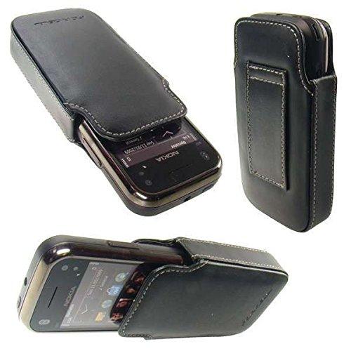 caseroxx Classic Etui Handy-Tasche für Nokia N97 Mini aus Kunstleder, Handy-Hülle in schwarz Mini N97 Handy