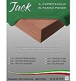 tex family COPRITAVOLO Panno Gioco Carte Poker Jack Verde Proteggi Tavolo Ritorto qualità Extra - Cm. 140x240