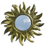 Guru-Shop Sonnenspiegel Gold-1, 29x29 cm, Dekoration Fürs Kinderzimmer