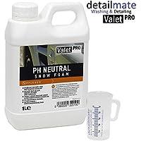 Espuma de lavado con pH neutro de ValetPro, 1l + jarra medidora detailmate de 50ml