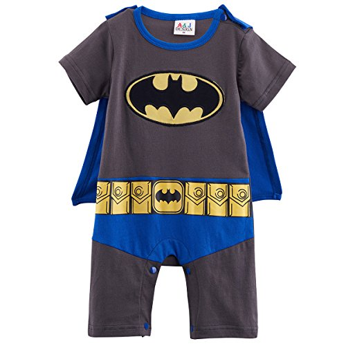 Knight Dress Fancy Kostüme (Batman Baby Strampler Boy Superheld Comic Party Kostüm/Fancy Kleid/Play)