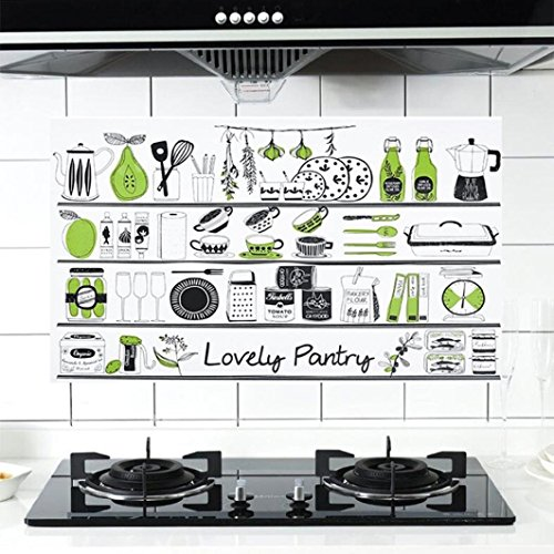 TAOtTAO Aufkleber Dicker Aluminiumfolie Küchenschrank Aufkleber Wasserdicht Selfadhesive (B)