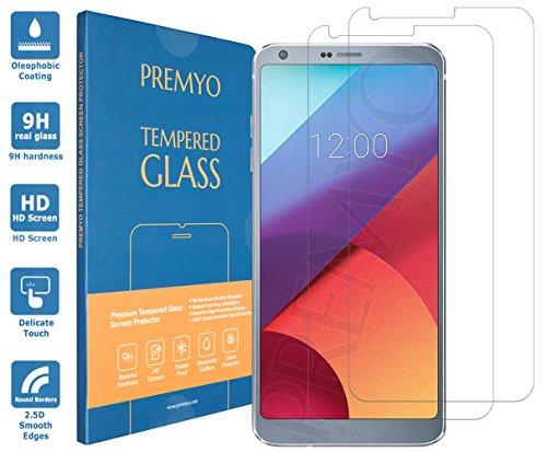 PREMYO Lot de 2 Verre Trempé Film Protection Écran Compatible avec LG G6  Dureté 9H Bords 2,5D Anti-Rayures sans Bulles Résistant