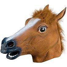 Rawdah Máscara de Caballo Látex Animal Traje Prop Gangnam Estilo Para Halloween
