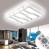 VWANT LED Deckenlampe Deckenleuchte Weiß-78W Dimmbar Quadrat Energiespar Wohnzimmer Schlafzimmer Korridor Acryl-Schirm Rahmen Flur Lampe Schlafzimmer Küche Energie Sparen Licht Modern Design