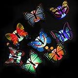 Ndier Nachtlicht,Wandkleber, Baby Nachttischlampe, leuchtenden Schmetterling, kann eingefügt Werden - 8 Stück.