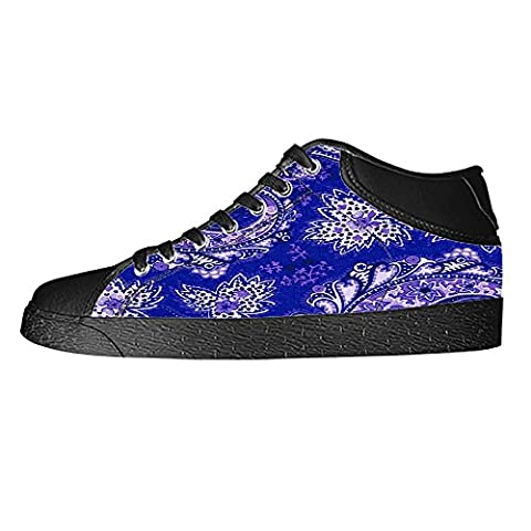 Dalliy Paisley Colored Print Women's Canvas Shoes Lace-up High-top Footwear Sneakers Chaussures de toile Baskets