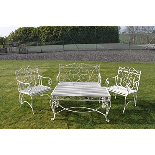 white garden furniture. Versailles Garden Coffee Set In Antique White Finish Furniture K
