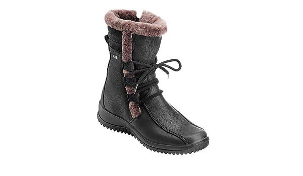 Jomos Boots Damen Stiefel in schwarz aus Kugelferse, PUR