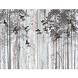 Tapisserie Photo Regard de bois abstrait 396 x 280 cm Laine papier peint Salon...