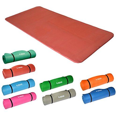 Hansson.Sports NBR Fitness Yoga Pilates Gymnastikmatte 183x80x1,5cm - orange
