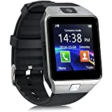 DZ09 reloj inteligente teléfono zkcreation inalámbrico Bluetooth SmartWatch 2.0 MP cámara para Android y iOS sistema (plata)