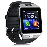 DZ09 Smart Watch Phone SmartWatch Bluetooth Wireless zkcreation Fotocamera 2.0 MP per android e ios (Argento)