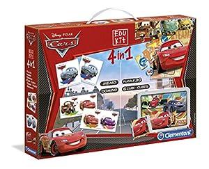 Clementoni 13779 Cars 2 Edukit - Set de puzzles y juegos infantiles (4 en 1)