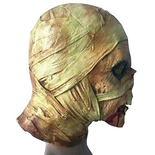 Nihiug Halloween Party Dekorationen Zombies Mumien Mumifizierte Ghosts Schaum Kopf Stütze Halloween Kostüm Maske Gespenstische Gruppe,A (Kostüm Maske Mumie)