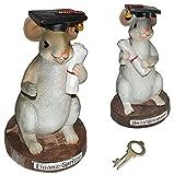 Spardose Maus Prüfung / Student - mit Schlüssel