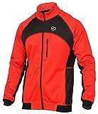 Deportes Hera - Giacca traspirante antivento Windstopper per ciclisti, impermeabile ad acqua e vento, rosso/nero, L