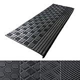 Copri gradini casa pura® | Tappeti per scale | 100% impermeabili | Antiscivolo scale | Massima aderenza | In gomma | Set da 5 pezzi | Diamond, 25x65cm