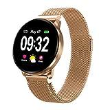 Smartwatch Fitness Armbanduhr Herren Damen mit Full-Touchscreen GOKOO Wasserdicht IP67 Fitness Tracker Aktivitätstracker Pulsuhren blutdruck uhr mit Kalorienzähler Schlafmonitor für Android IOS (Gold)