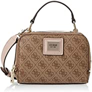 Guess Womens Cross-Body Handbag, Brown Multi - SG766870