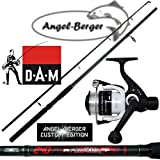 Angel Berger Angelset Steckrute und Rolle (2.10m Rute + 120 RD Rolle)