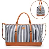 Best Overnight Bags For Women - Large Women Weekender Bag,Canvas Holdalls Carry-on Tote Bag Review