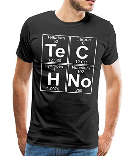 Spreadshirt Techno Chemie Periodensystem Te C H No Männer Premium T-Shirt, L, Schwarz (Elemente T-shirts)