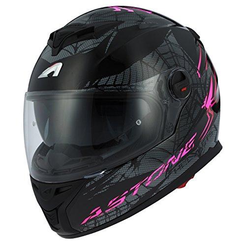 Astone Helmets gt800-spider-pbxs casco Moto Integral GT 800, color morado/negro, talla XS