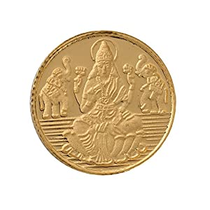 Bangalore Refinery 24k (999) Goddess Lakshmi 4 gm Yellow Gold Coin