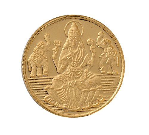 Bangalore Refinery 4 gm, 24k (999) Yellow Gold Lakshmi Coin