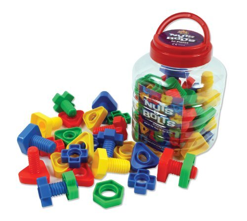 play-discover-nuts-bolts-4-shapes-2-parts-4-colours-jar-pack-of-64