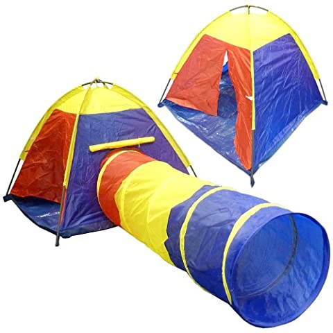 New Children's Kids Adventure Pop Up Play Tent And Tunnel Set - Fun for kids indoors & outdoors - Tent can be assemble in minutes