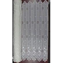 Visillo HOLANDES Bordado Guipure TOTALMANTE REMATADO Listo para Colgar EN Barra Laredo Color Crema (Alto