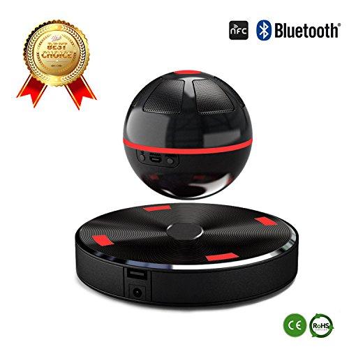 Haut-Parleur/Enceinte Bluetooth-4.1 Levitation NFC sans Fil à Lévitation Magnétique avec Connexion Bluetooth Compatible avec Smartphones, Tablettes et Appareils MP3 - Noir/blanc