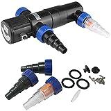 Deuba Filtre à rayon UV-C | Clarificateur - Stérilisateur - Filtre lumière/eau | 11 watts | Longueur de câble: 5 m | étang bassin aquarium - ballast intégré