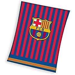 FC Barcelona Fleecedecke - Fleece Blanket - couverture en Laine Polaire -coperta in Pile - Manta de Lana 150x200cm FCB192037