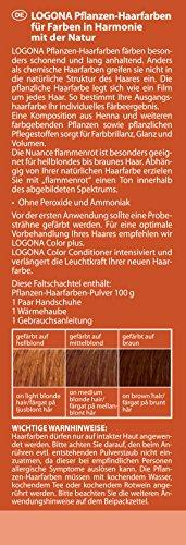 LOGONA Naturkosmetik Coloration Pflanzenhaarfarbe, Pulver - 040 Flammenrot - Rot, Natürliche & pflegende Haarfärbung (100g) - 2