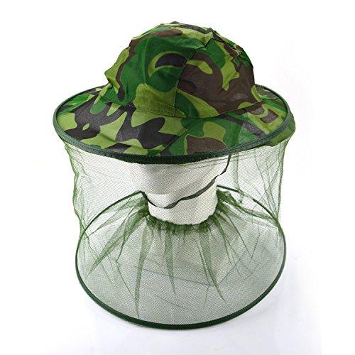 Grifri Imker Anti anti-zanzare Api di wanzen di insetti di maschere Cappucci di cappello di testa di rete di maglia di protezione viso di attrezzatura di pesca